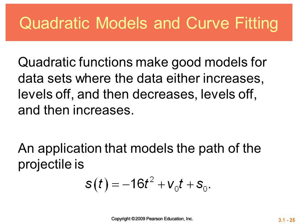 Quadratic Models and Curve Fitting