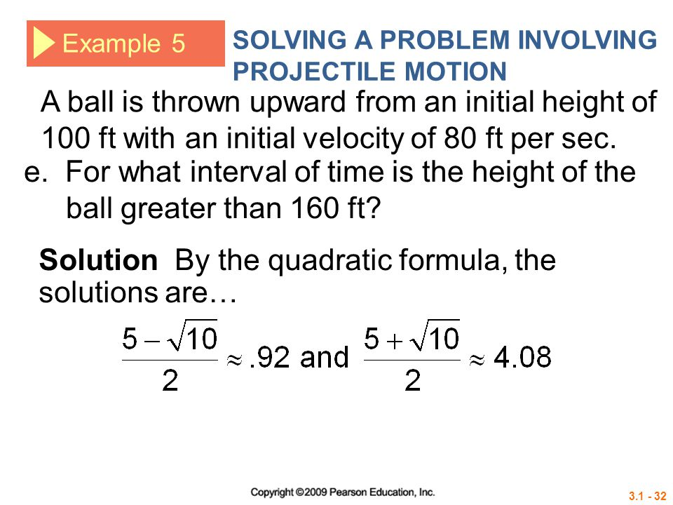 Solution By the quadratic formula, the solutions are…