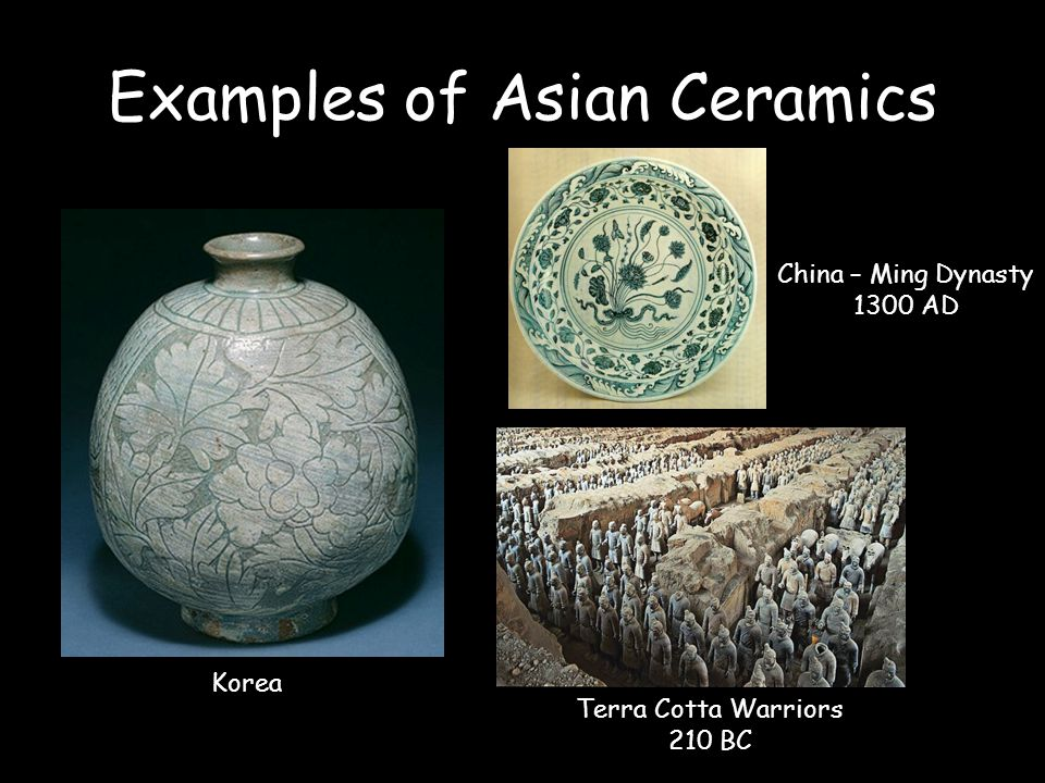 Examples of Asian Ceramics