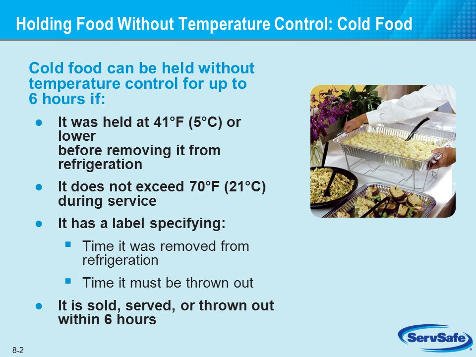 Holding Food Without Temperature Control: Cold Food