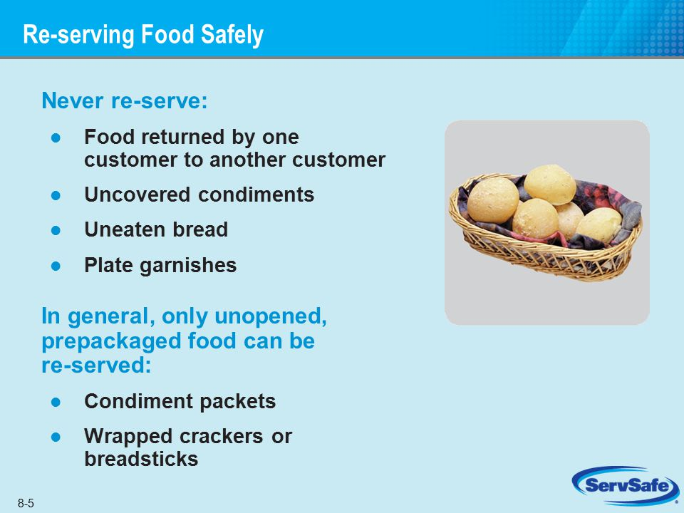 Re-serving Food Safely