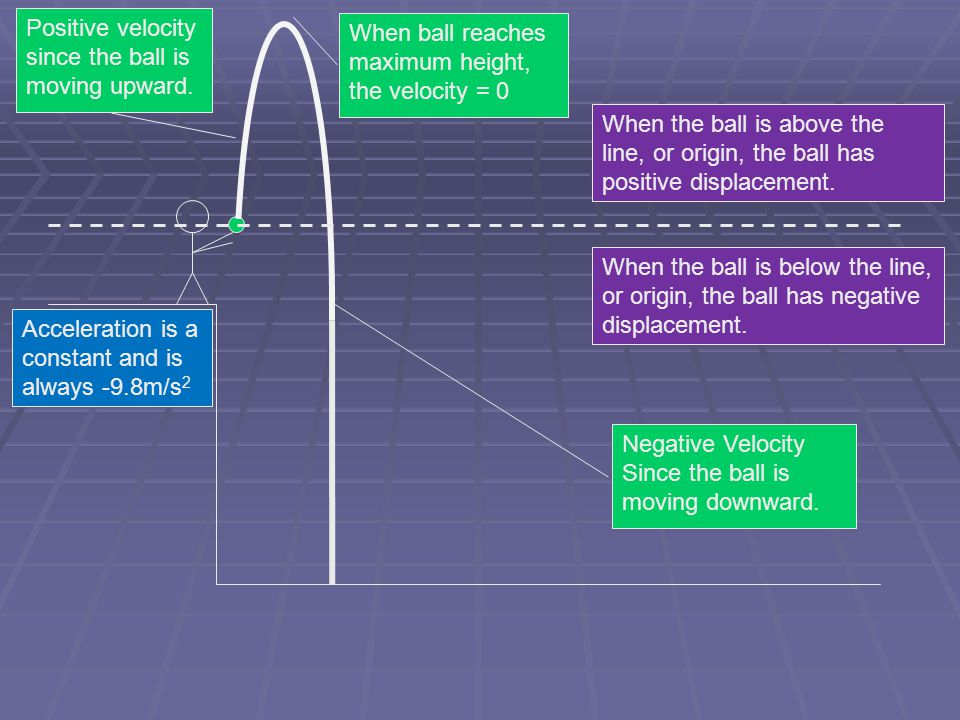 Positive velocity since the ball is moving upward.