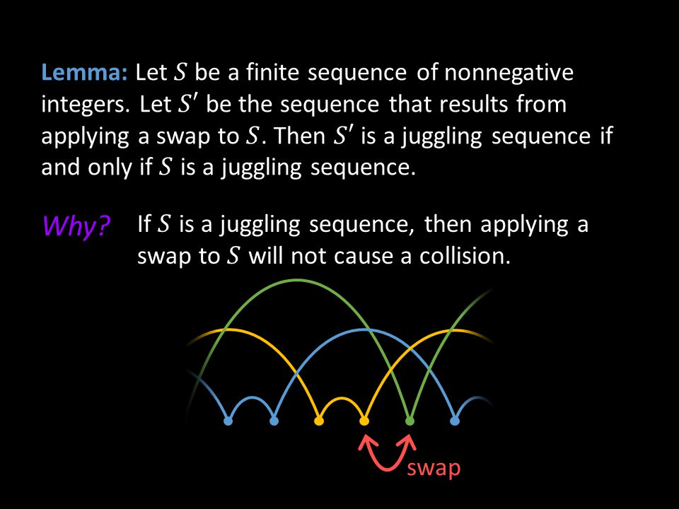 Lemma: Let 𝑆 be a finite sequence of nonnegative integers