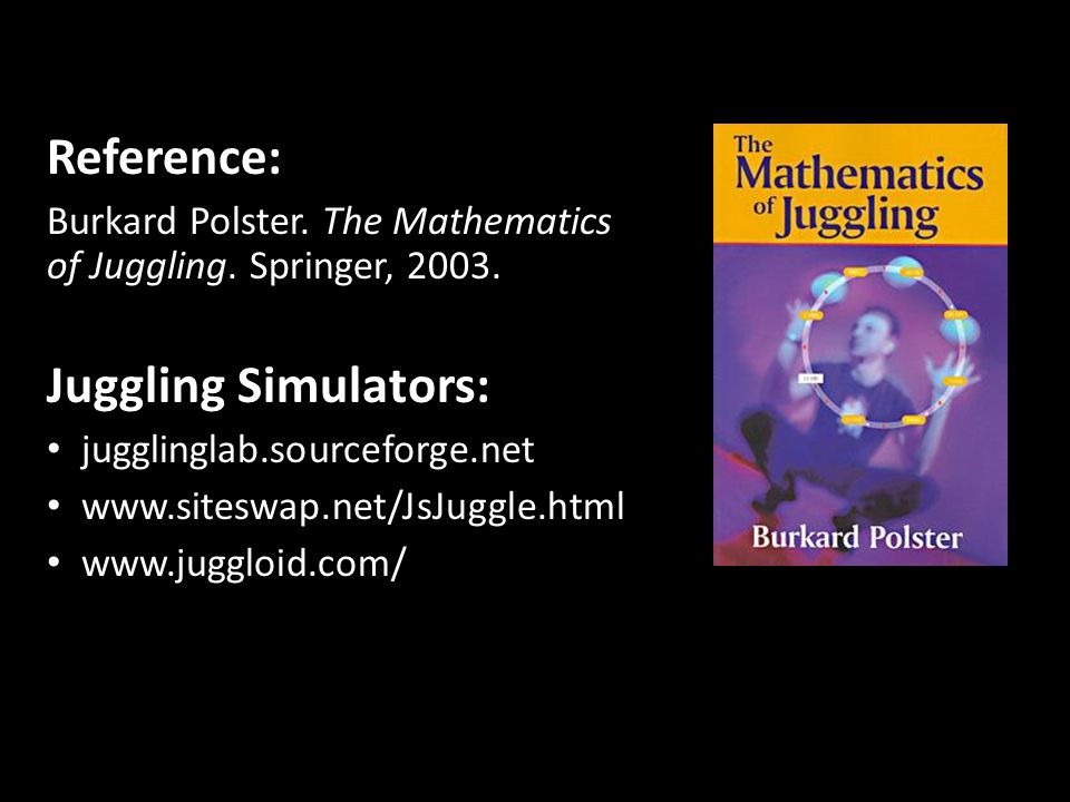 Reference: Juggling Simulators: