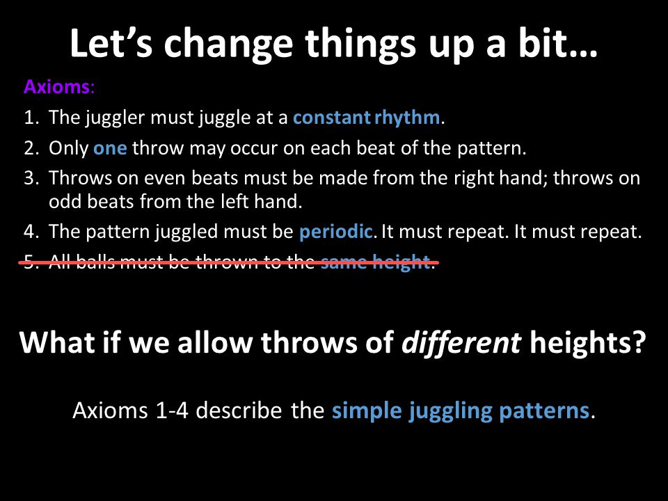 Let's change things up a bit…