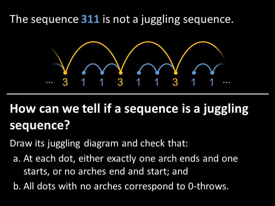 How can we tell if a sequence is a juggling sequence