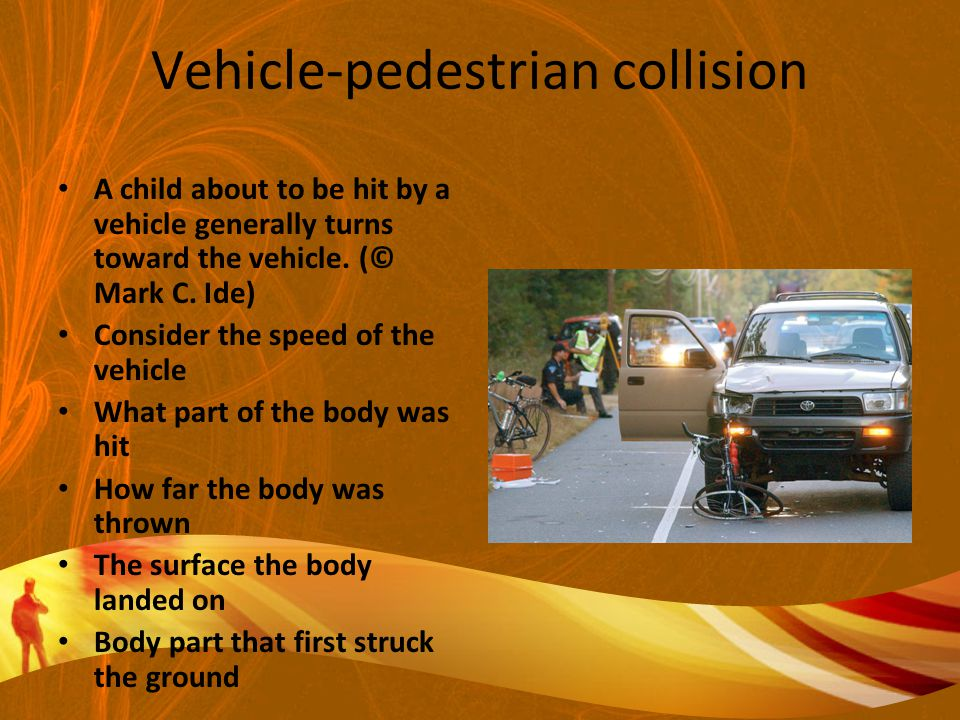 Vehicle-pedestrian collision