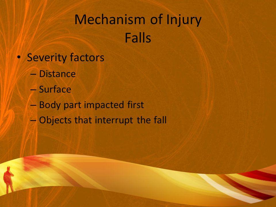 Mechanism of Injury Falls