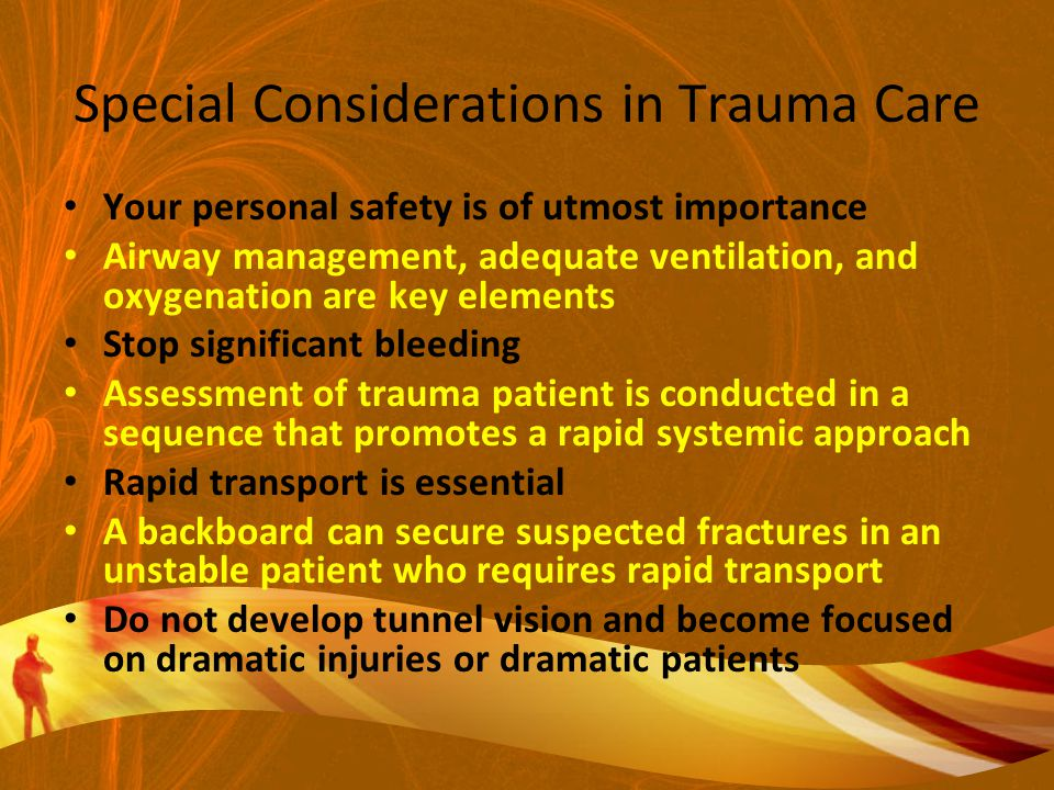 Special Considerations in Trauma Care