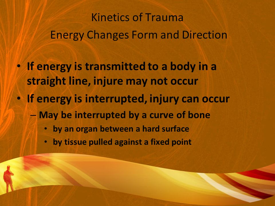 Kinetics of Trauma Energy Changes Form and Direction