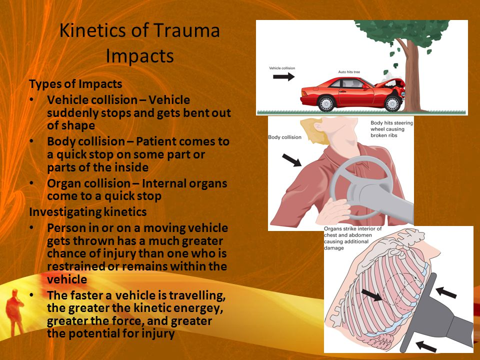 Kinetics of Trauma Impacts