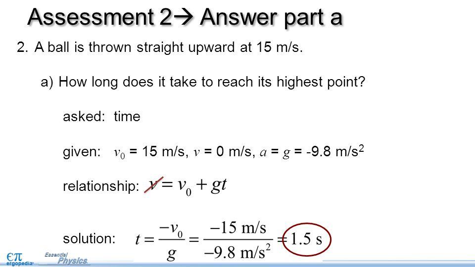 Assessment 2 Answer part a