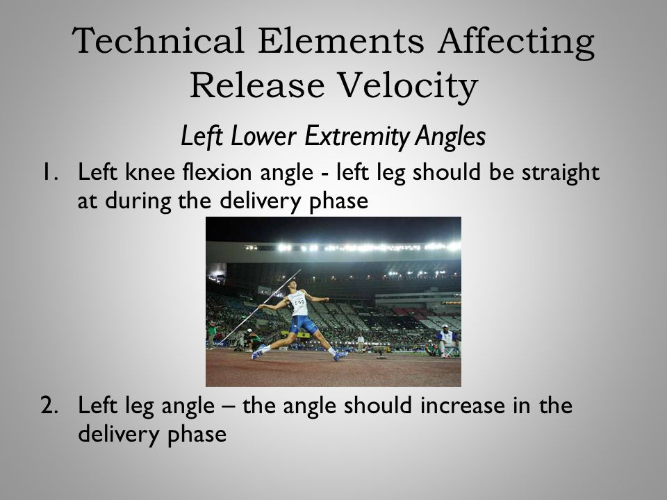 Technical Elements Affecting Release Velocity
