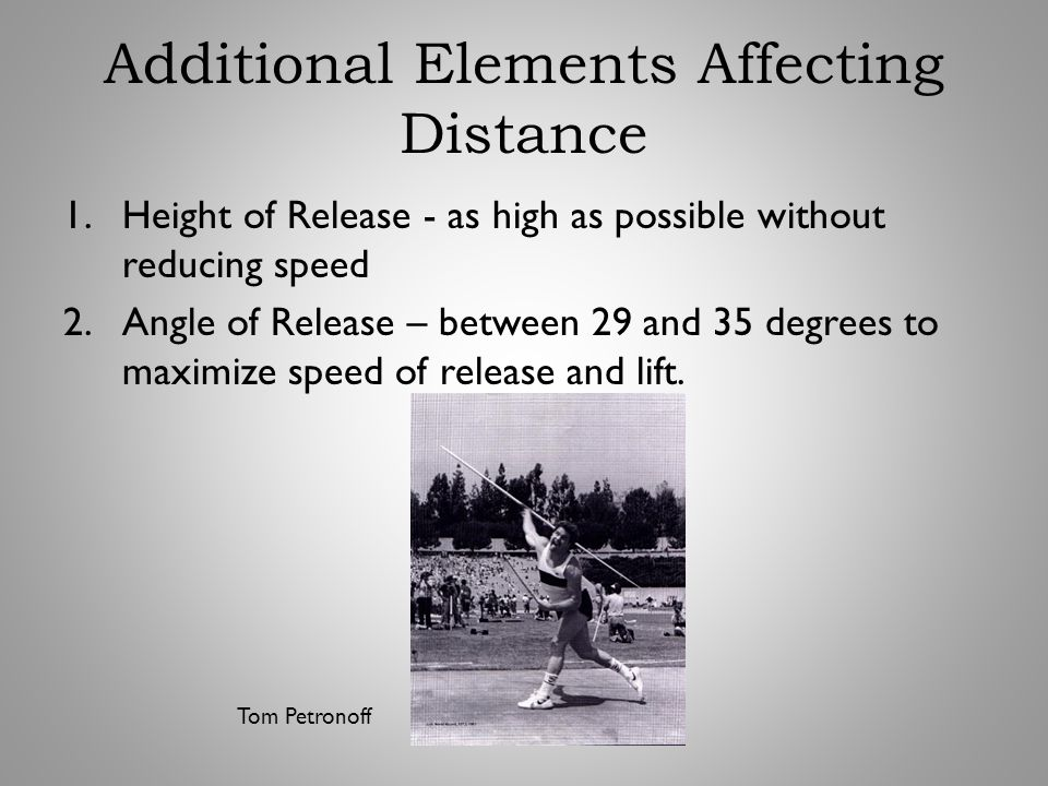 Additional Elements Affecting Distance
