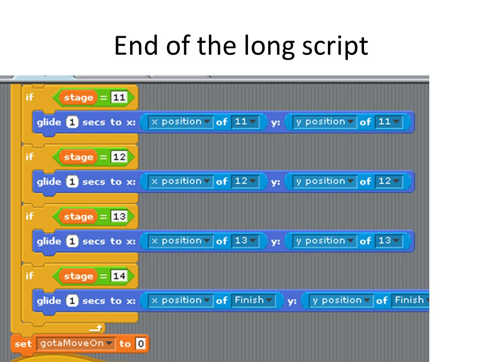 End of the long script