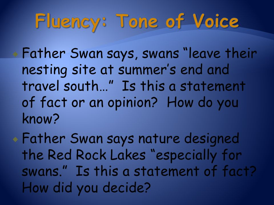 Fluency: Tone of Voice