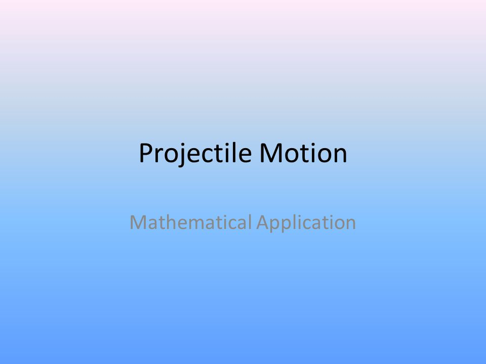 Mathematical Application