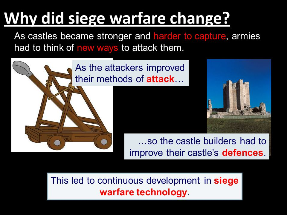 Why did siege warfare change