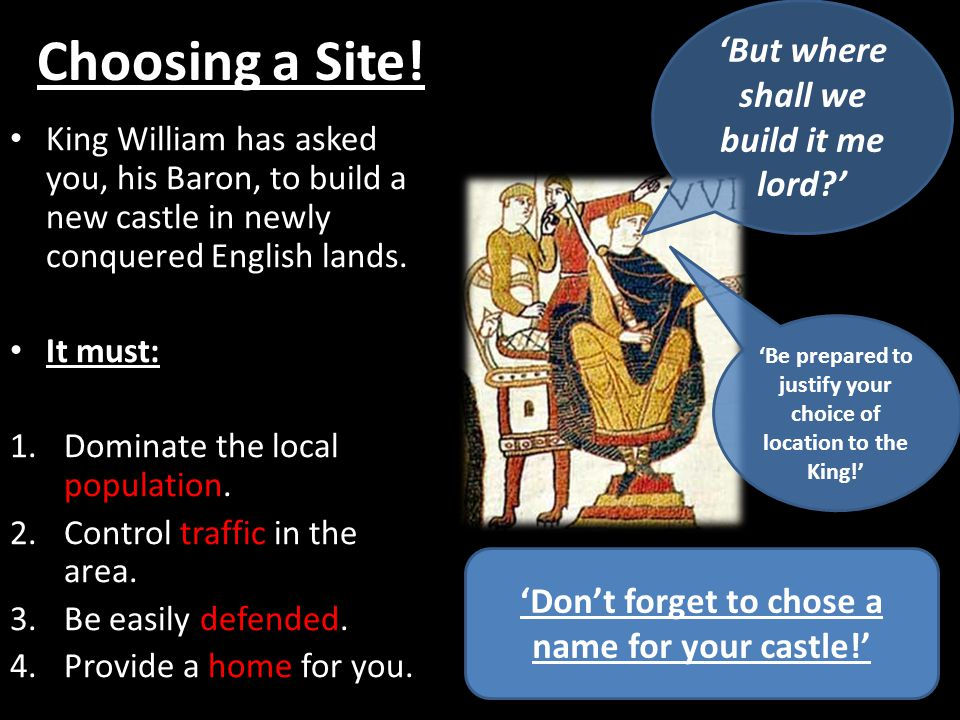 Choosing a Site! 'But where shall we build it me lord '