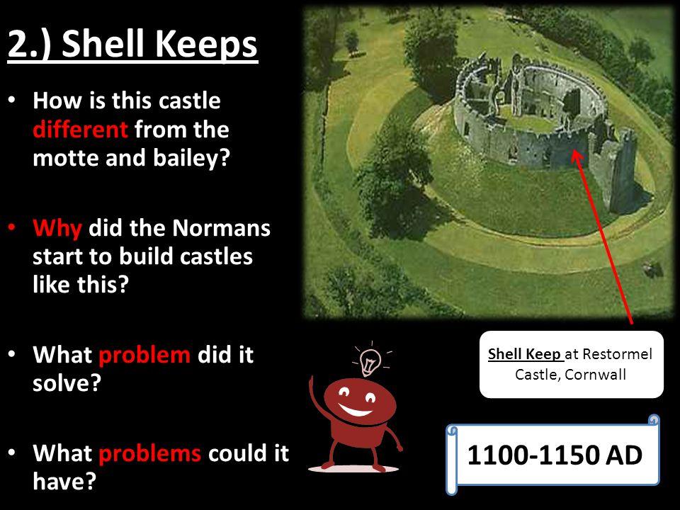 Shell Keep at Restormel Castle, Cornwall