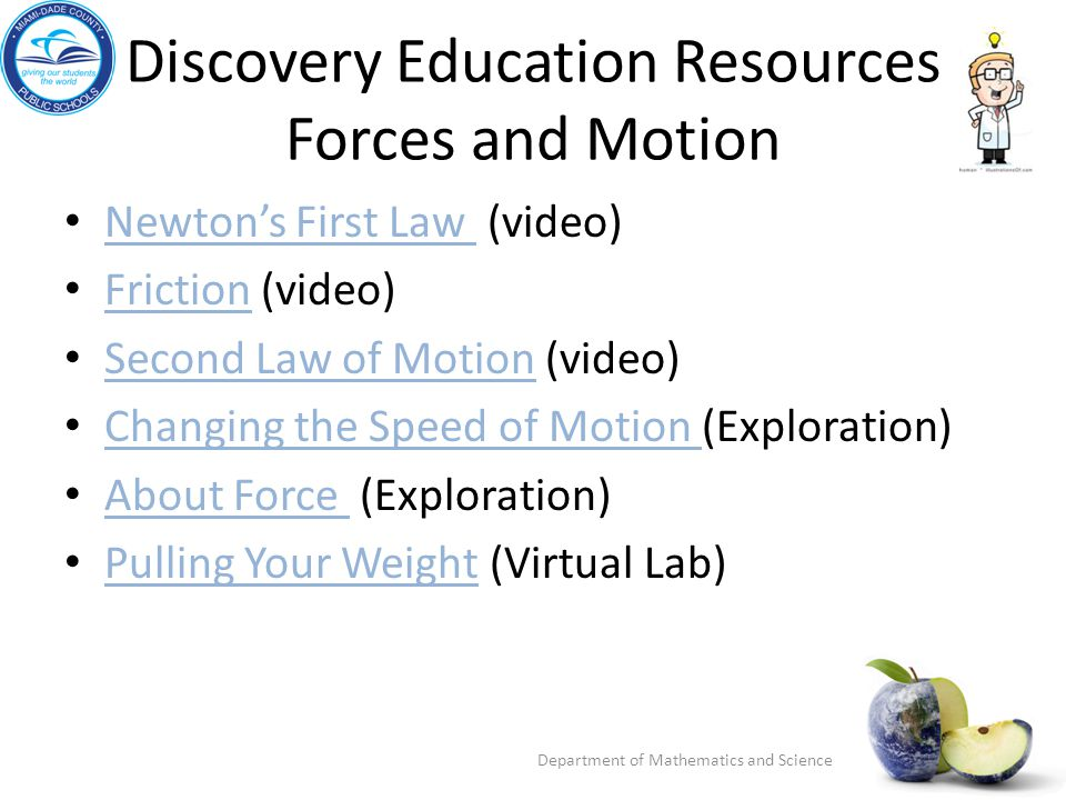 Discovery Education Resources Forces and Motion