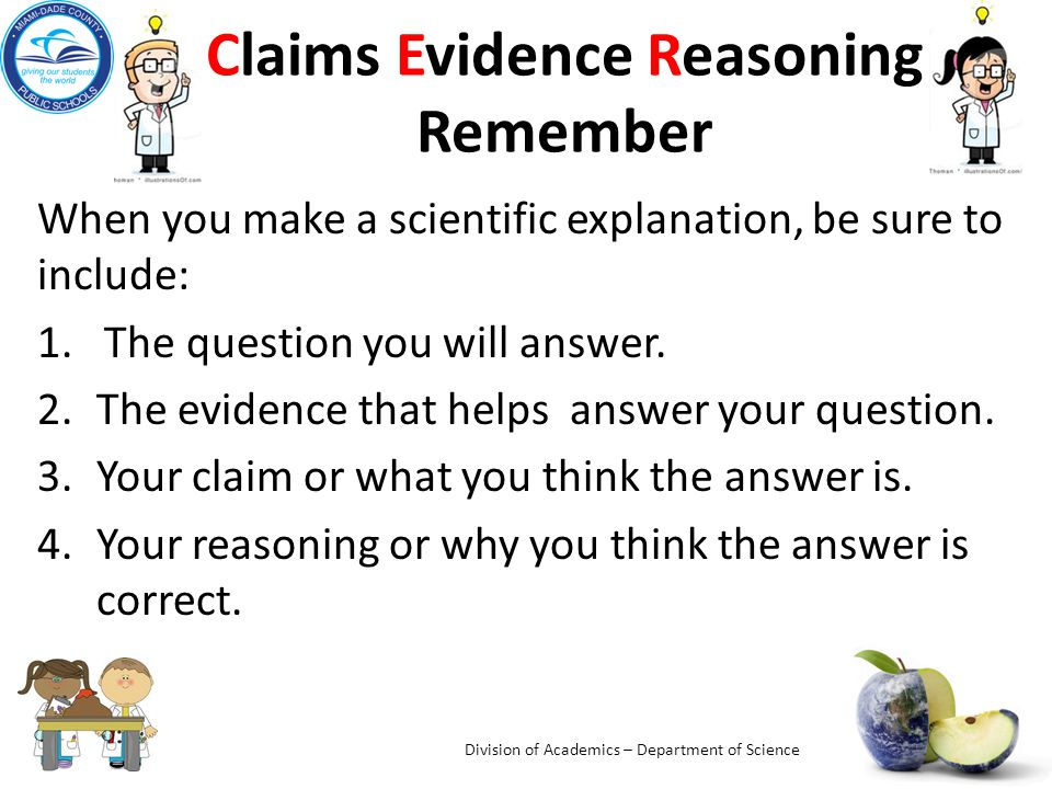 Thinking and Writing Like a Scientist: Claims Evidence Reasoning ...