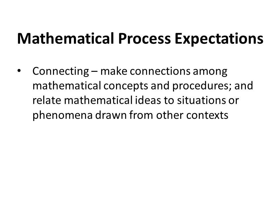 Mathematical Process Expectations
