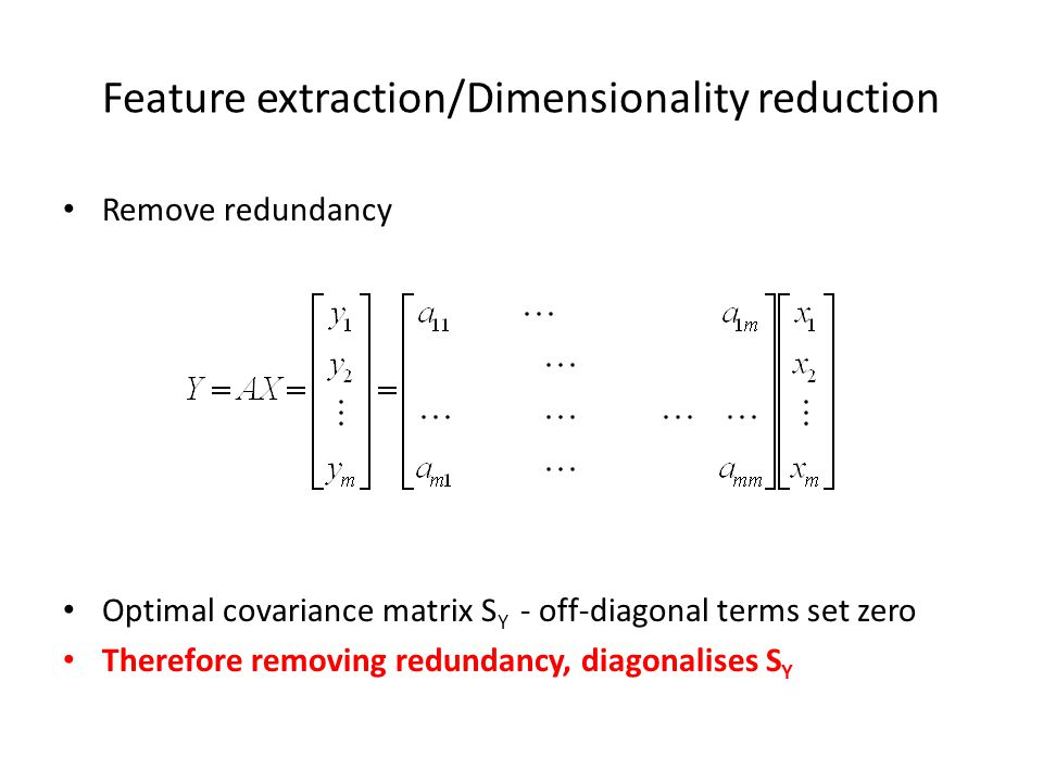 Feature extraction/Dimensionality reduction