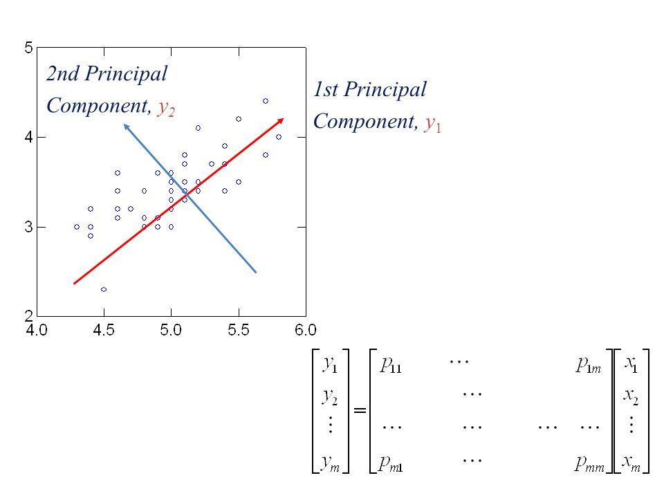 2nd Principal Component, y2 1st Principal Component, y1