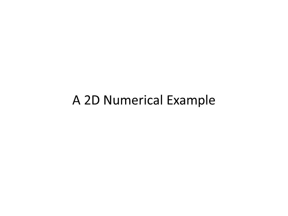 A 2D Numerical Example