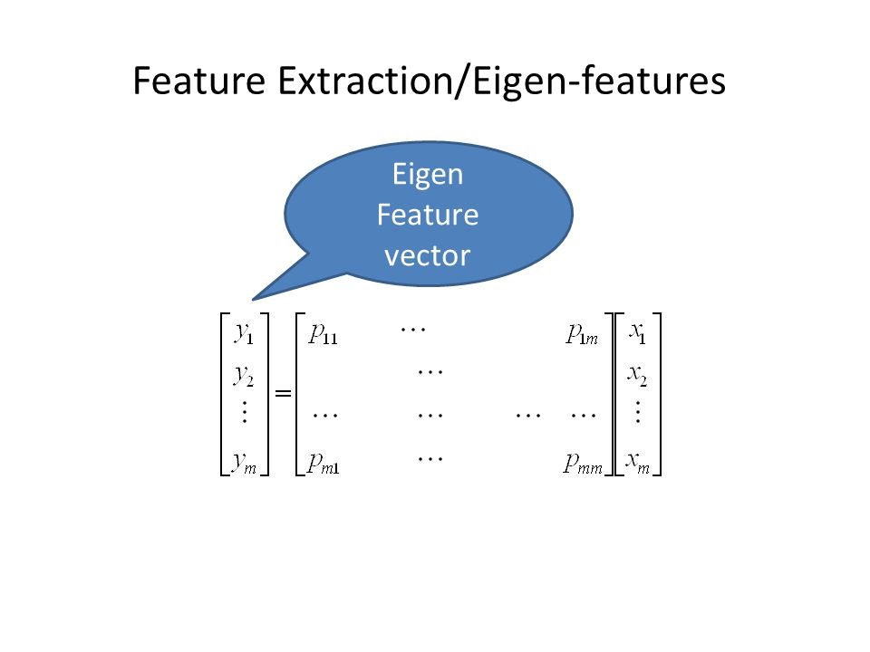 Feature Extraction/Eigen-features