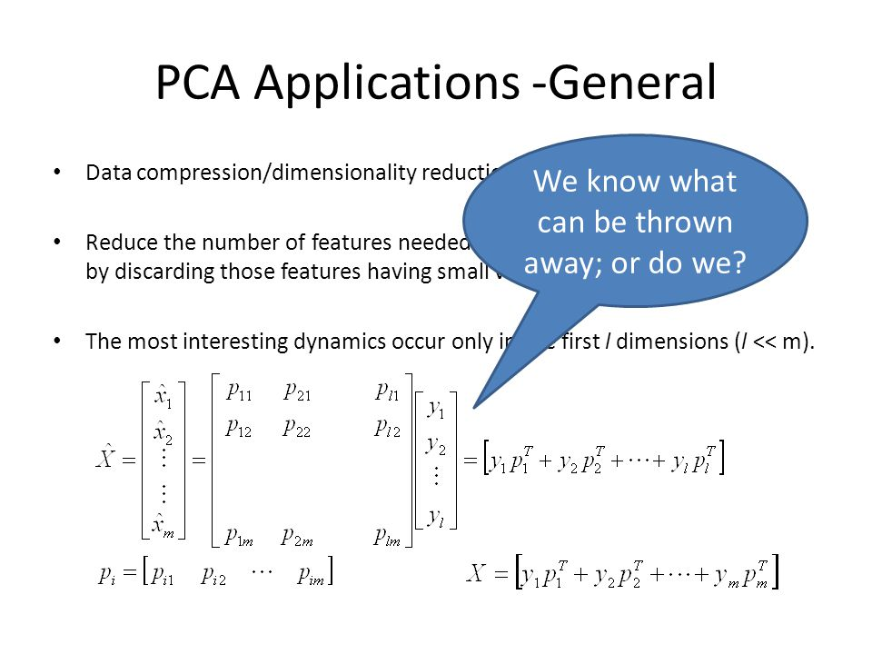 PCA Applications -General