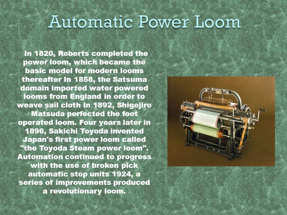 Automatic Power Loom