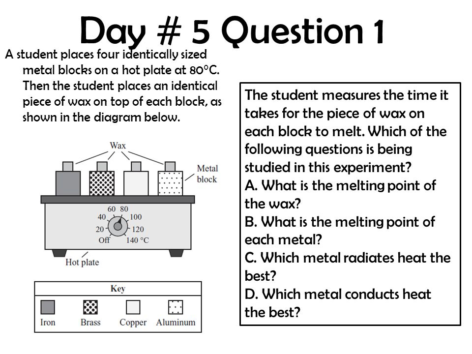 Day # 5 Question 1