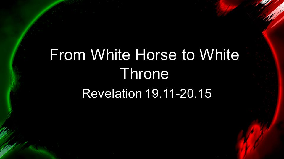 From White Horse to White Throne