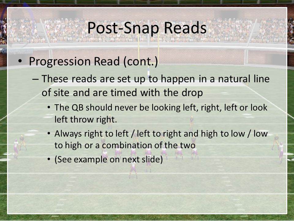 Post-Snap Reads Progression Read (cont.)
