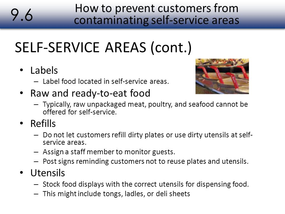 How to prevent customers from contaminating self-service areas