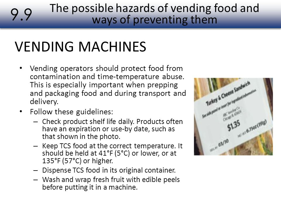 The possible hazards of vending food and ways of preventing them