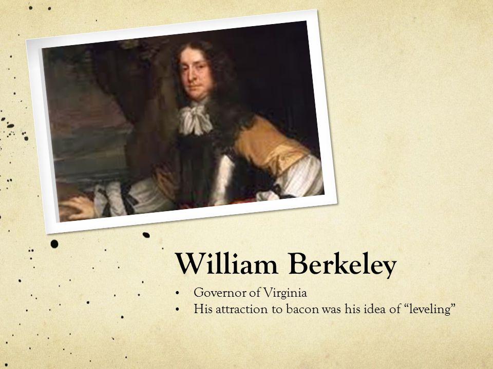 William Berkeley Governor of Virginia