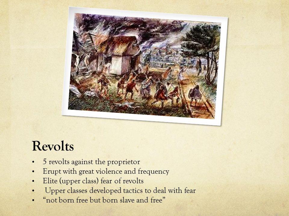 Revolts 5 revolts against the proprietor