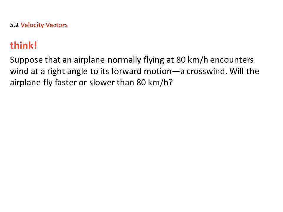 5.2 Velocity Vectors think!