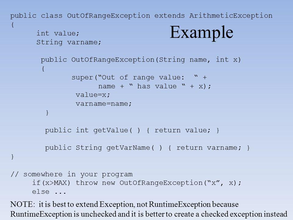 public class OutOfRangeException extends ArithmeticException