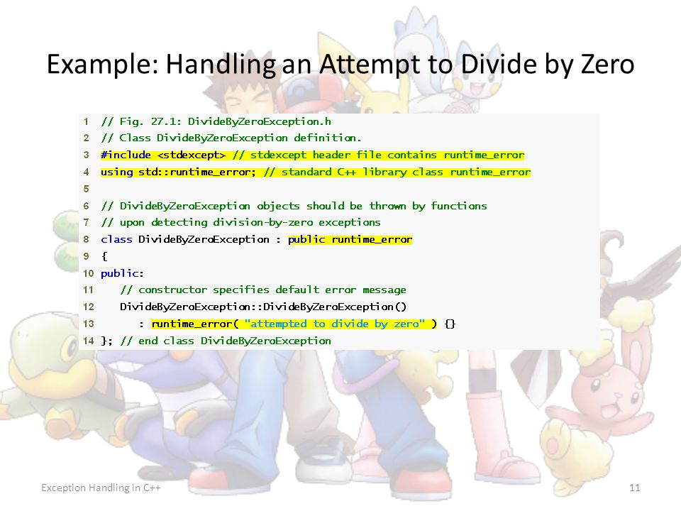 Example: Handling an Attempt to Divide by Zero