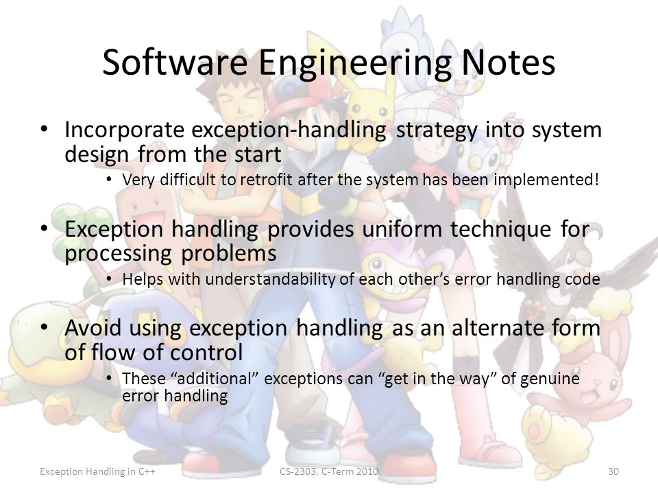 Software Engineering Notes
