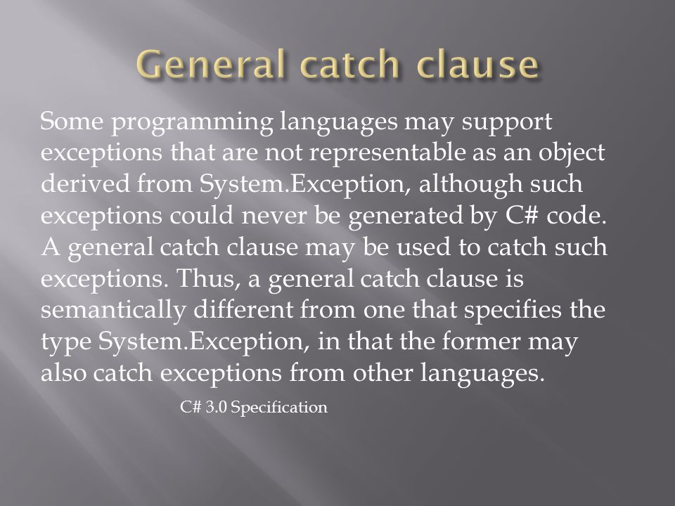 General catch clause