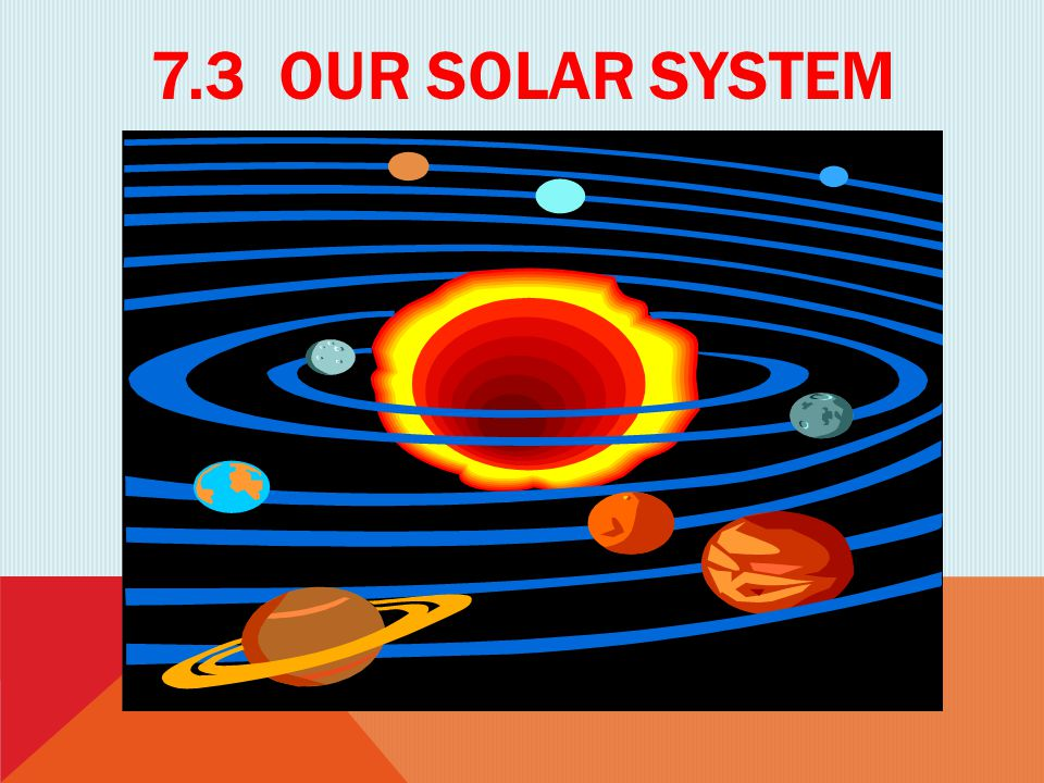 7.3 Our solar system