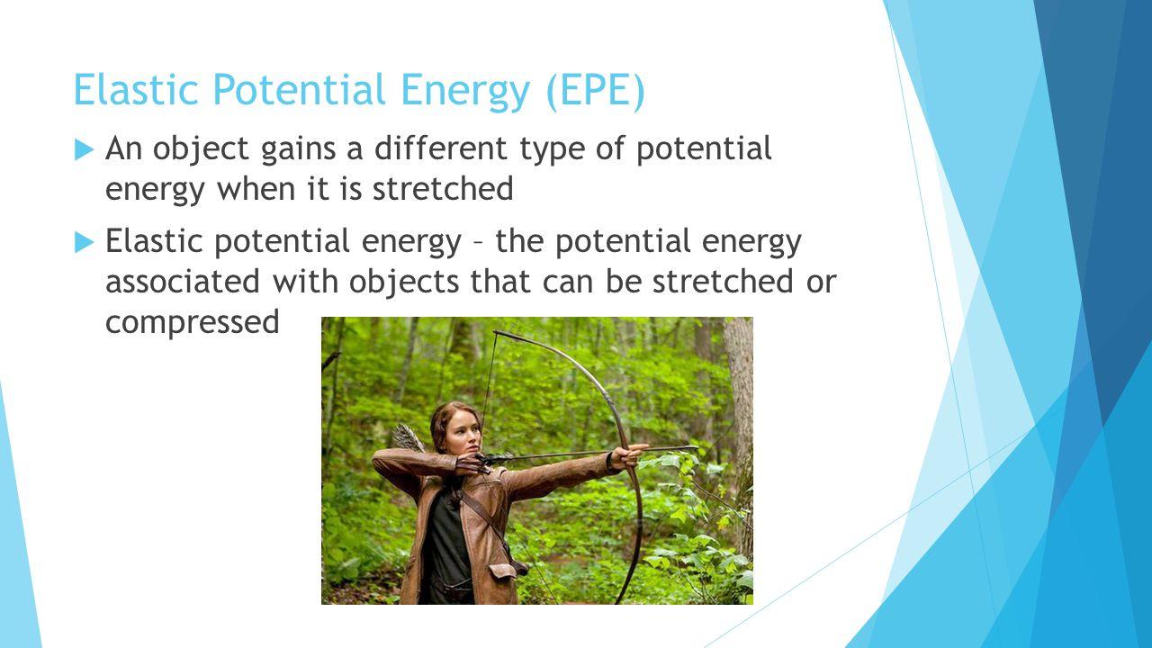 Elastic Potential Energy (EPE)