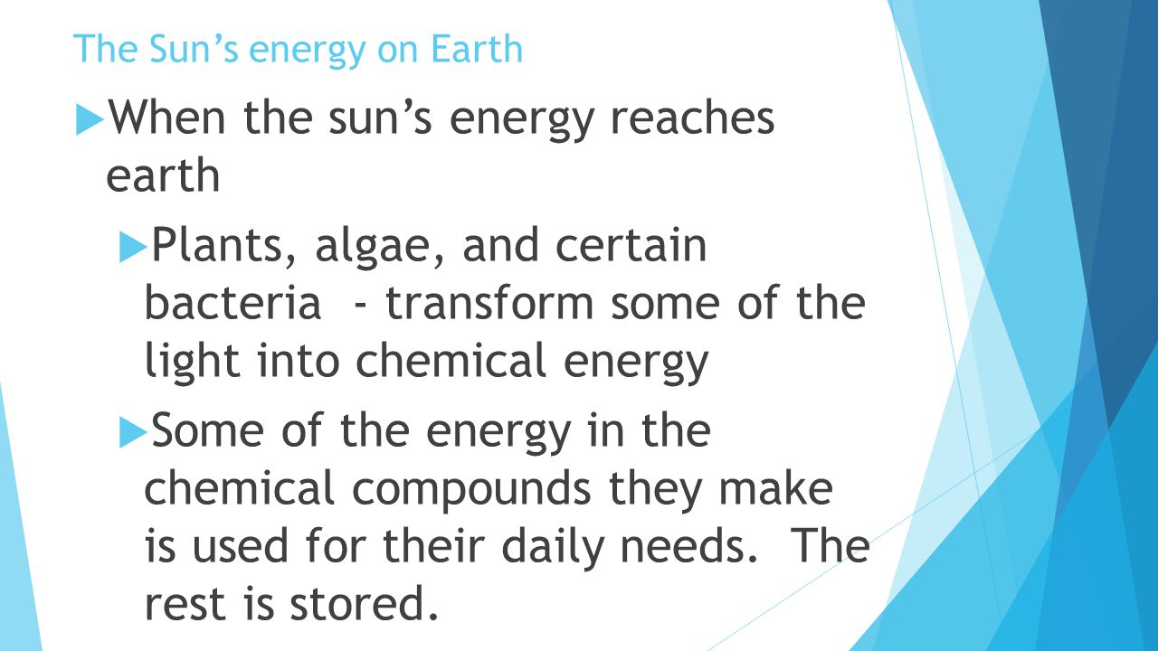The Sun's energy on Earth