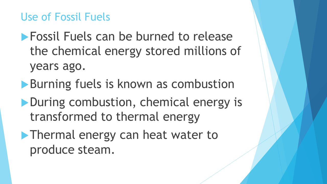 Burning fuels is known as combustion