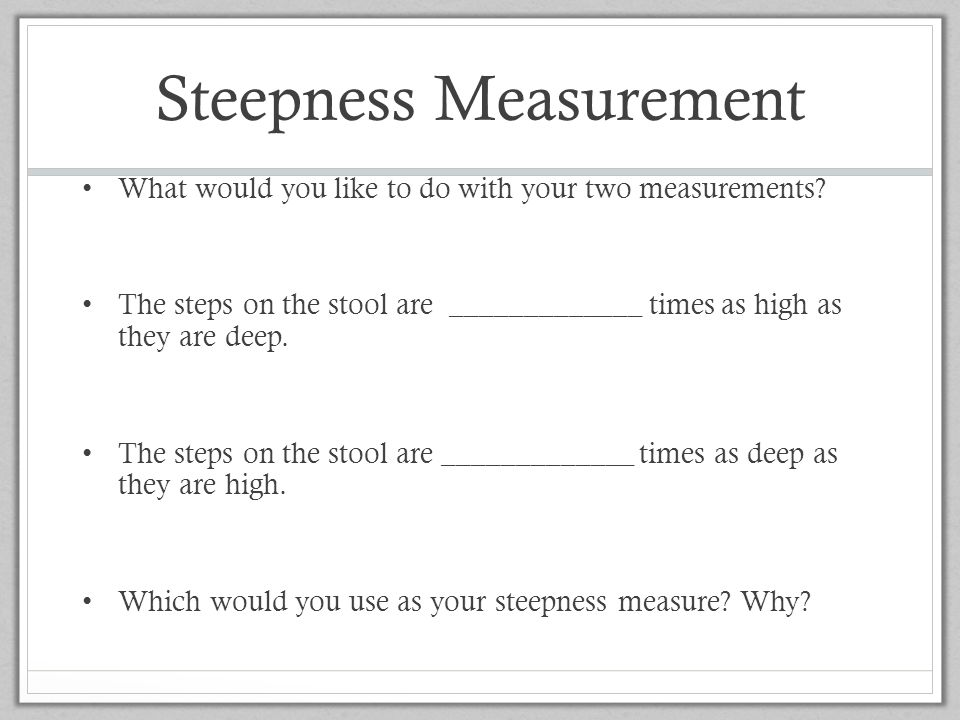 Steepness Measurement